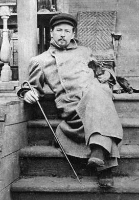Русский писатль Антон Павлович Чехов (1860-1904) в Мелихово.