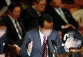 Премьер-министр Японии Наото Кан принял участие в заседании комитета Верхней палаты парламента Японии после землетрясения