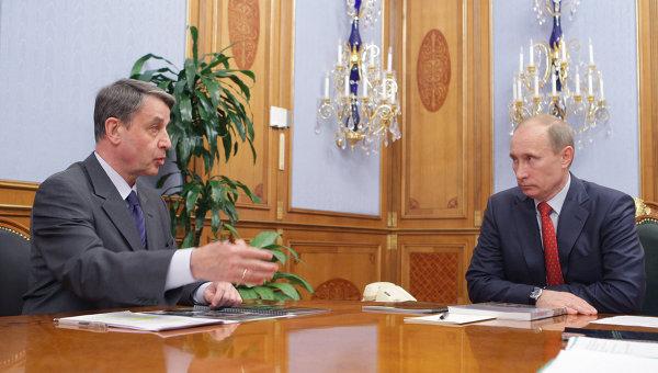 Премьер-министр РФ В.Путин встретился с директором Эрмитажа и министром культуры РФ