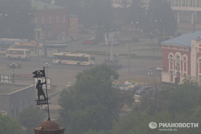 Томск в смоге