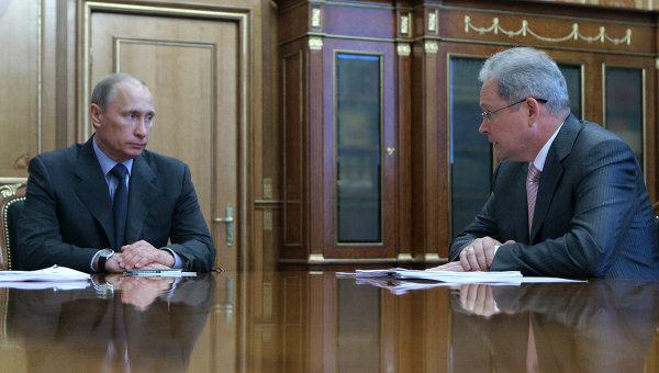 Премьер-министр РФ Владимир Путин встретился с Сергеем Шматко и Виктором Басаргиным