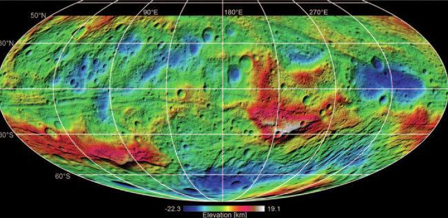 НАСА: Церера оказалась похожей на слоеную «матрешку»
