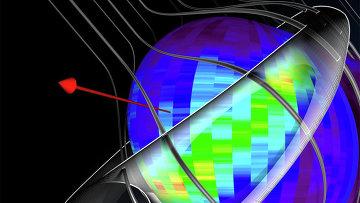"""Трёхмерная схема  """"пояса """" на границе гелиосферы, обнаруженного зондом IBEX (Adler Planetarium/IBEX Team) ."""